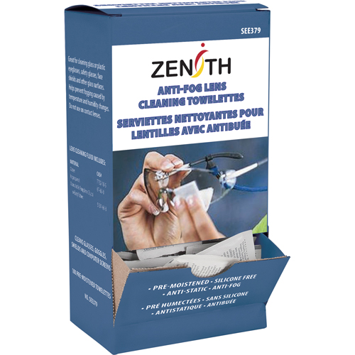 Industrial Cleaning Products Scn Lens Zenith Safety Towelettes