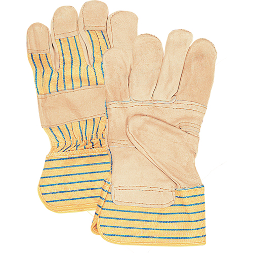 Standard Quality Grain Cowhide Patch Palm Fitters Gloves SFQ696 | SCN Industrial