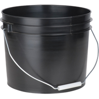 "PAIL 11.4L 11""X9"" BLAC;K WITH HANDLE CD464 