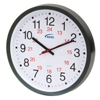 12/24 H Battery Operated Wall Clock HT072 | SCN Industrial