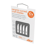 Slice™ Rounded-Tip Ceramic Curved Edge Knife Blades JI466 | SCN Industrial