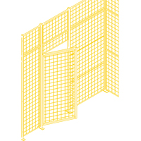 Wire Mesh Partition Components - Swing Doors KH933 | SCN Industrial