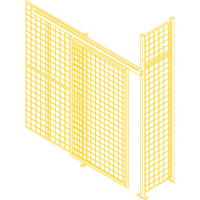 Wire Mesh Partition Components - Sliding Doors KH938 | SCN Industrial