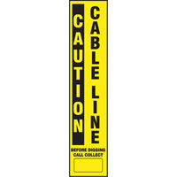 Flexible Marker Stake Decals - Caution Cable Line SEK550 | SCN Industrial