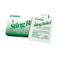 Insect Sting Relief Towelettes SGE738 | SCN Industrial