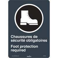 CSA Bilingual Foot Protection Required Safety Sign SGI140 | SCN Industrial