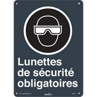 CSA French Safety Glasses Required Safety Sign SGI141 | SCN Industrial