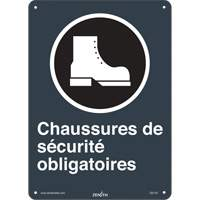 CSA French Safety Shoes Required Safety Sign SGI142 | SCN Industrial