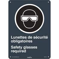 CSA Bilingual Safety Glasses Required Safety Sign SGI143 | SCN Industrial