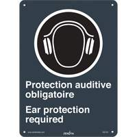 CSA Bilingual Ear Protection Required Safety Sign SGI144 | SCN Industrial