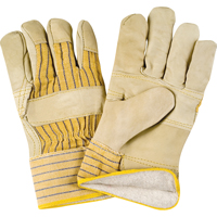 Grain Cowhide Fitters Cotton Fleece-Lined Patch Palm Gloves SDL881 | SCN Industrial