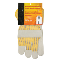 Grain Cowhide Fitters Cotton Fleece-Lined Patch Palm Gloves SR521R | SCN Industrial