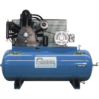 Industrial Series Air Compressors - 15 HP Horizontal Compressors - Two Stage TFA078 | SCN Industrial