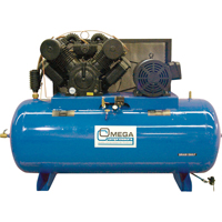 Industrial Series Air Compressors - 30 HP Horizontal Compressor - Two Stages TFA102 | SCN Industrial
