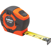 "Tape Measure Hi-Viz Orange  1""X33' (25mmx10m) TLV619 