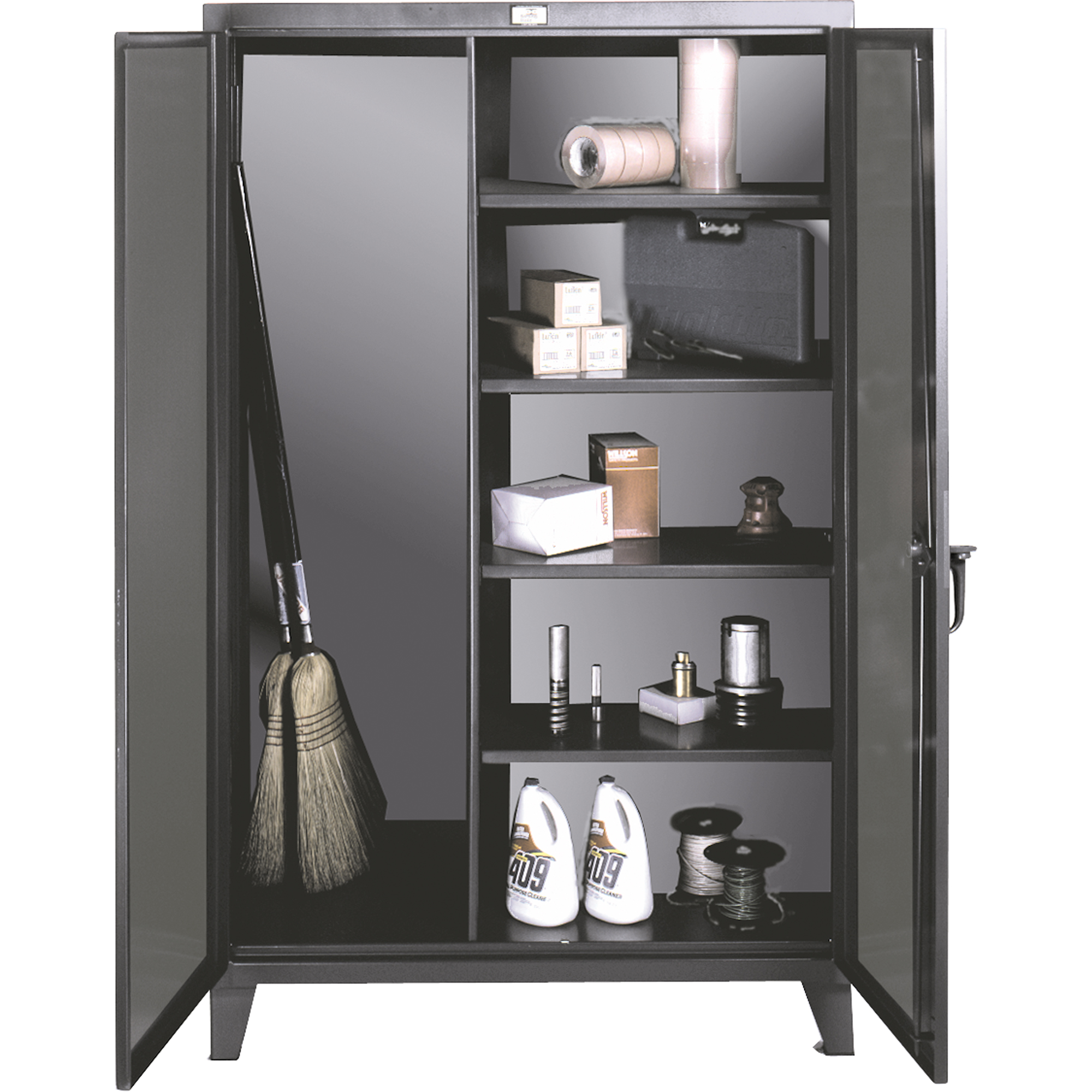 Strong Hold Extra Shelves For Broom Closet Storage Cabinet Scn