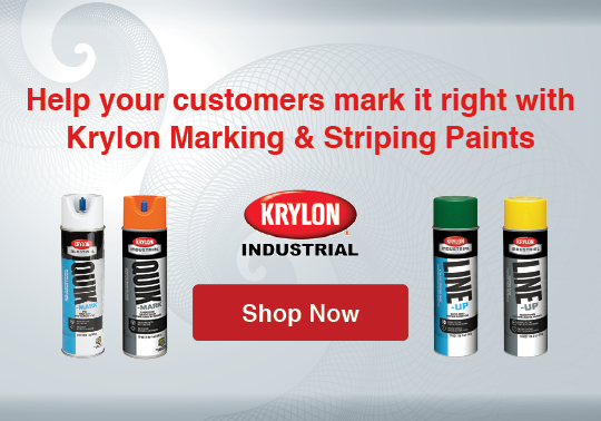 Help your customers mark it right with Krylon Marking and Striping Paints
