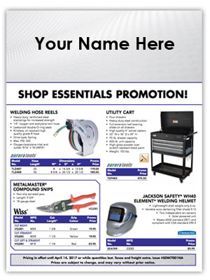 SCN Industrial Shop Essentials Flyer Program