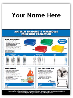 SCN Industrial Material Handling & Warehouse Equipment Flyer Program